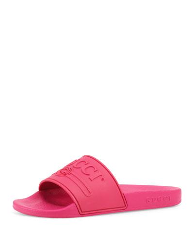 Pursuit Gucci Rubber Slide Sandals, Toddler/Kids