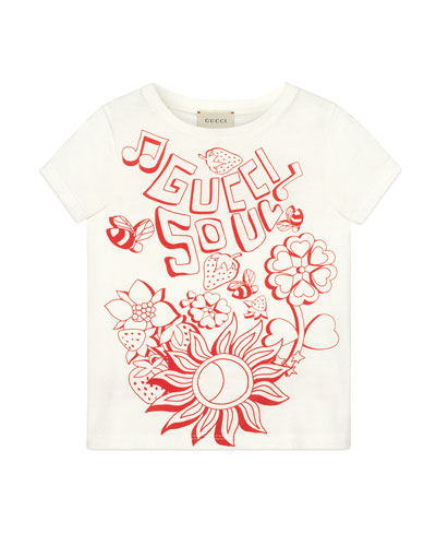 Gucci Soul & Love Short-Sleeve T-Shirt, Size 4-10