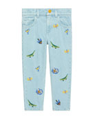 Gucci Animal Embroidered Denim Jeans, Size 4-12