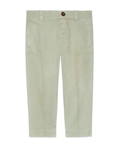 Khaki Twill Pants, Size 4-12