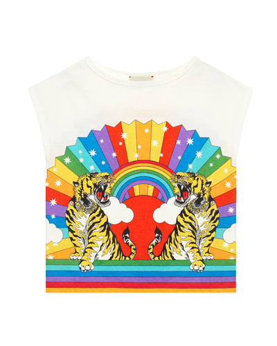 Rainbow Tiger Graphic T-Shirt, Size 4-12