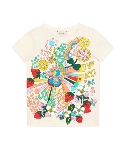 Allover Graphic T-Shirt, Size 4-10