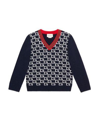 3c599ef74b4c Gucci V Neckline Sweater | Neiman Marcus