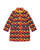 Gucci Rainbow Velvet GG Supreme Coat, Size 4-12