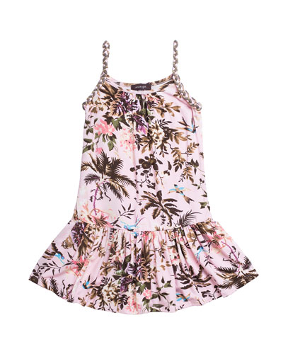 5d7955072ab Quick Look. Imoga · Botanical Leaf Printed Jersey Dress ...