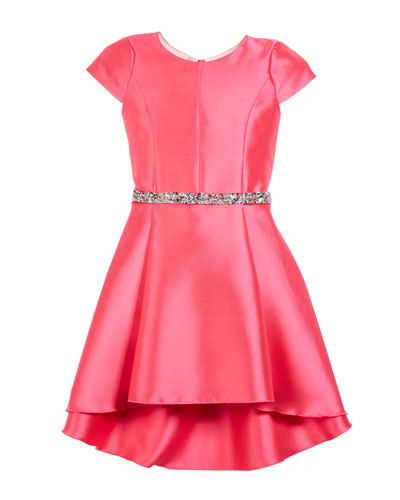 The Jennifer Matte Sateen Swing Dress, Size 7-16