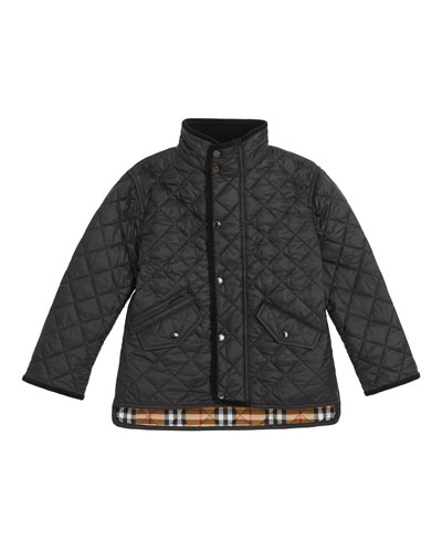 Brantley Quilted Snap Jacket, Size 3-14