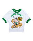 Burberry Lovely Bunch Cartoon Graphic Tee, Size 3-14