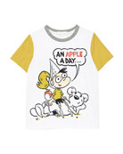 Burberry Apple Cartoon Graphic Tee, Size 3-10