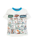 Burberry Comic Book Graphic Tee, Size 3-14