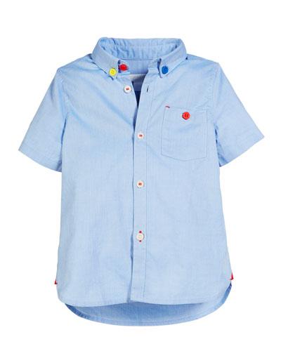 Short-Sleeve Oxford Shirt, Size 3-14