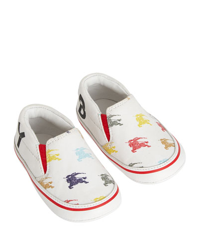 Erwin Equestrian Knit Print Canvas Sneakers, Baby/Toddler