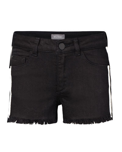 Girls' Lucy G Raw-Edge Shorts, Size 7-16