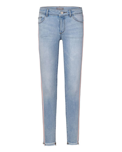 Girls' Chloe G Skinny Stepped Hem Jeans, Size 7-16