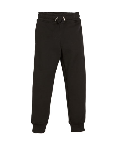 Logo-Sides Cotton Sweatpants, Size 12-16