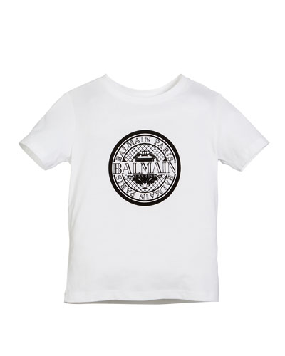 Short-Sleeve Coin Logo Graphic Tee, Size 4-10