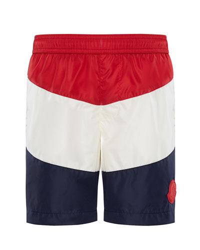 d17ade0d93e5c Quick Look. Moncler · Colorblock Swim Trunks ...