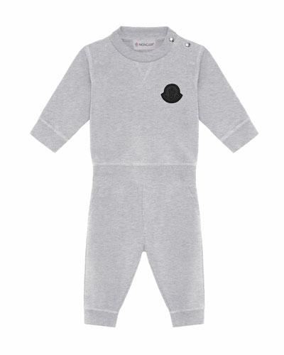 Heathered Sweatshirt w/ Matching Sweatpants, Size 6M-3