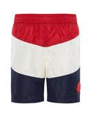 Moncler Colorblock Swim Trunks, Size 8-14
