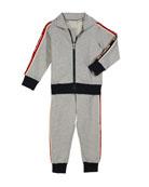 Moncler Two-Piece Logo Sweat Suit, Size 4-6