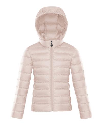 Hooded Zip-Front Coat, Size 4-6