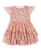 Stella McCartney Kids Multicolored Embroidered Star Tiered Tulle