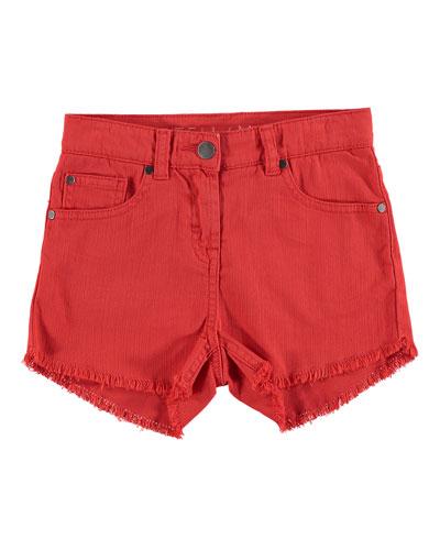 High Waist Fringe Shorts, Size 4-14