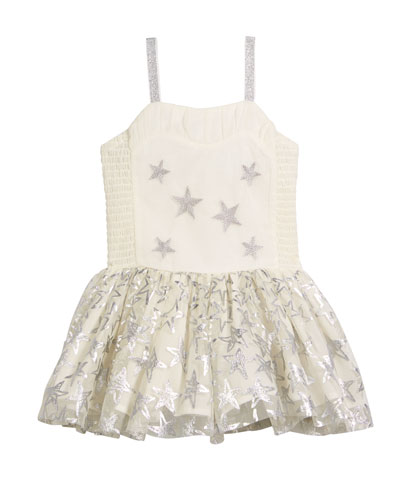 Metallic Star Dress w/ Detachable Wings, Size 4-10