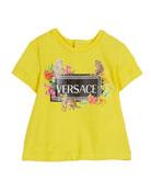 Versace Short-Sleeve Box Logo & Assorted Graphics Tee,