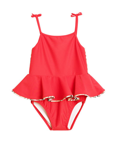 8fc05f470a Quick Look. Burberry · Ludine Check-Trim One-Piece Swimsuit ...
