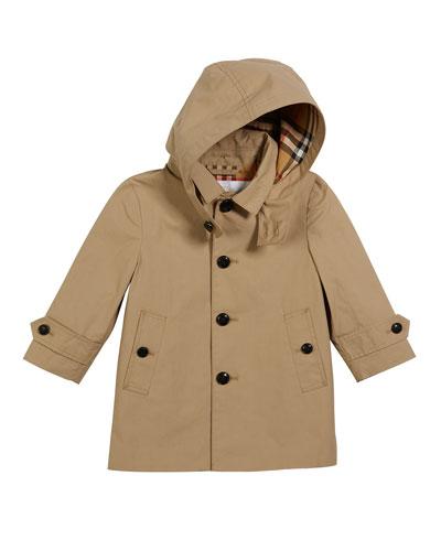 Bradley Hooded Trench Coat, Size 12M-2
