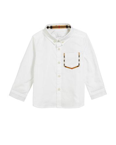 Harry Check-Pocket Sport Shirt, Size 6M-2