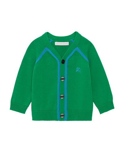 Sedrick Two-Tone Button-Front Cardigan, Size 12M-2