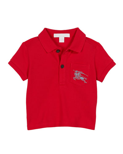 Grant Knit Pique Short-Sleeve Polo, Size 6M-2