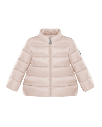 Quilted Stand-Collar Coat, Size 12M-3