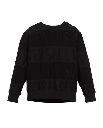 Spugna Logo Sweatshirt, Size 8-10