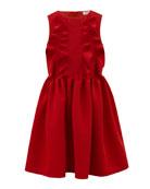 David Charles Rib Knit Ruffle-Trim Sleeveless Dress, Size