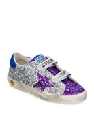 Golden Goose Old School Glitter Sneakers, Kids