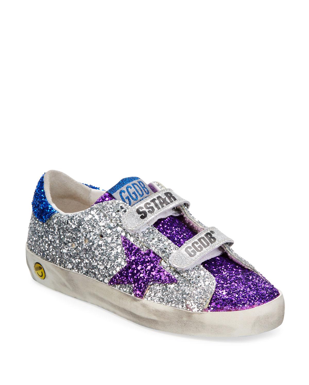 Old School Glitter Sneakers, Kids