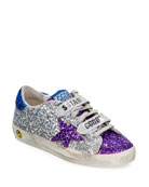 Golden Goose Old School Glitter Sneakers, Baby/Toddler