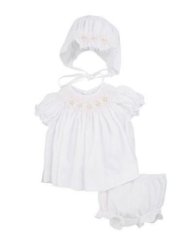 7b23f22a49b Quick Look. Luli   Me · Smocked Bishop Dress w  Bonnet   Bloomers