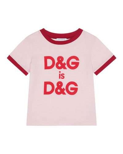 Two-Tone Logo T-Shirt, Size 8-12