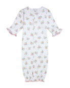 Kissy Kissy Petite Pansies Pima Convertible Gown, Size