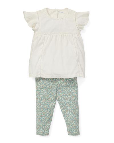 Lace Top w/ Floral Leggings, Size 6-24 Months