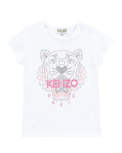 Tiger Logo Printed T-Shirt, Size 12-18 Months