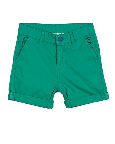 Colored Logo Bermuda Shorts, Size 2-4