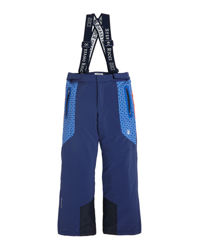 Boys' Ski Pants with Suspenders, Sizes 10-14