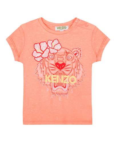 Floral Tiger Graphic T-Shirt, Size 5-6