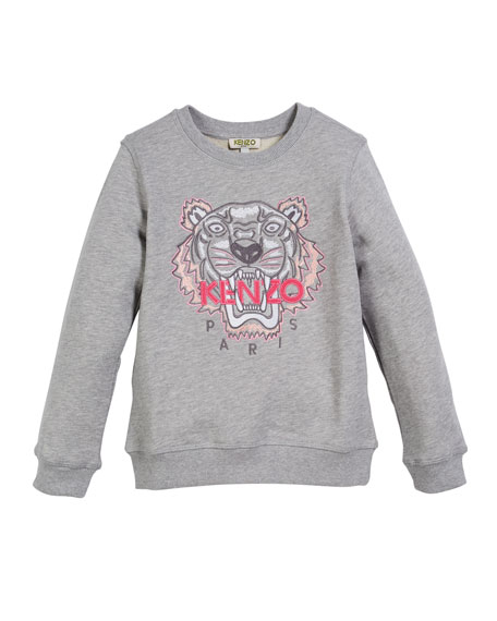 Kenzo Tiger Face Sweatshirt, Sizes 5-6