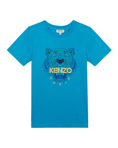 Tiger Logo Printed T-Shirt, Size 8-12